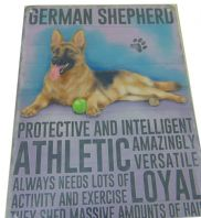 GERMAN SHEPHERD DOG HUMOUROUS CHARACTER METAL SHABBY CHIC PLAQUE DOG LOVER GIFT......